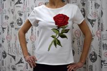 Дамска блуза с къс ръкав -ABBY- бяла