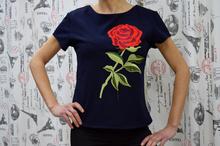 Дамска блуза с къс ръкав -ABBY- тъмно синя