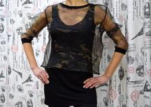 Дамска блуза с дълъг ръкав -CADENCE- черна