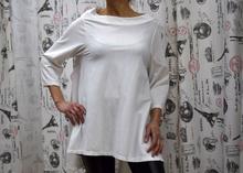 Дамска блуза с дълъг ръкав - GIANNA - бяла