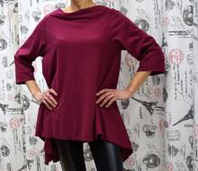 Дамска блуза с дълъг ръкав - GIANNA - тъмно бордо
