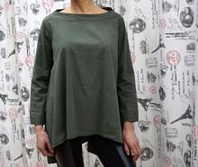 Дамска блуза с дълъг ръкав -  GIANNA - тъмно зелена