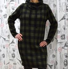 Дамска рокля с дълъг ръкав - EMMA- тъмно зелена