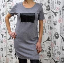 Дамска рокля с къс ръкав - ABIGAIL- сива