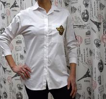 Дамска риза с дълъг ръкав - KAYLEE- бяла