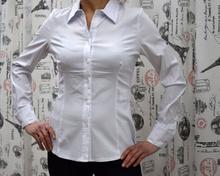 Дамска риза с дълъг ръкав -HANNAH- бяла
