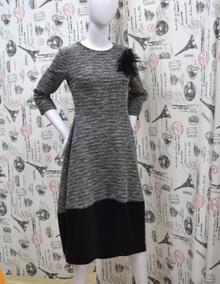 Дамска дълга рокля - JADA - сива