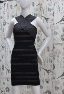 Елегантна дамска рокля - GABRIELLE - черна