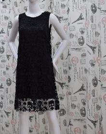 Елегантна дамска рокля -SKULL - черна дантела