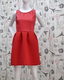 Елегантна дамска рокля - EVA - червена