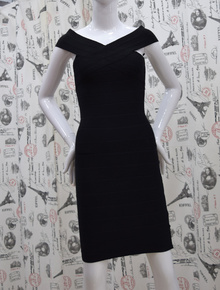 Елегантна дамска рокля - MARY - черна