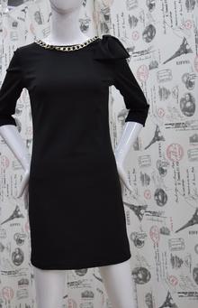 Елегантна дамска рокля - ANDREA - черна