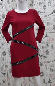 Ежедневна дамска рокля - JORDAN - бордо
