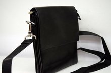 Мъжка чанта ЛУКС колекция - DANIEL - черна с магнитен капак къс