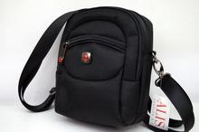 Мъжка чанта ЛУКС колекция - SAMUEL- черна текстил