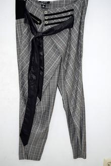 Дамски панталон - SAVANNAH - черно бял