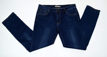 Дамски дънки големи размери - KAYLA -  тъмно сини
