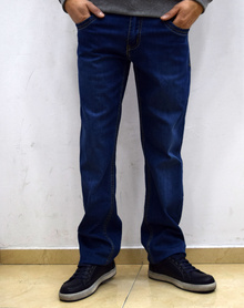Класически мъжки дънки - JACOB - тъмно сини - размери от 31 до 38