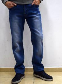 Класически мъжки дънки - NOAH - сини с модно избелен ефект