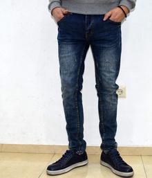 Модни мъжки дънки - EVAN - тъмно сини