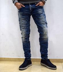 Модни мъжки дънки - COOPER - тъмно сини