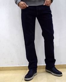 Модни мъжки дънки -  SEAN - тъмно сини