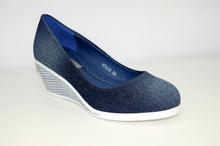 Дамски обувки на платформа НОВ МОДЕЛ - ASHLYN - сини