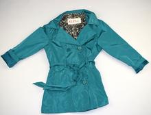 Модно пролетно яке - FASHION AND STYLE - синьо - зелено за 12 годишни с peacock десен