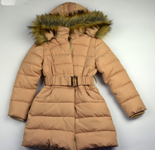 Стилно юношеско зимно яке - ANNA - светло бежово от 8 до 16 годишни