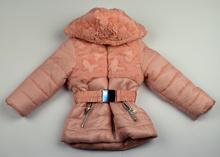 Детско зимно яке - VIOLETА -  розово с пух за 6-9 месеца, 12-18 месеца