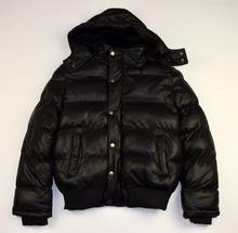 Юношеско зимно яке - JACOB - черно, еко кожа за 9 и 16 годишни