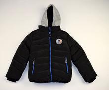 Детско зимно яке - ETHAN - черно с двоен цип от 4 до 12 годишни