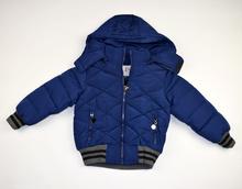 Детско зимно яке - GAVIN - тъмно синьо от 2 до 6 годишни