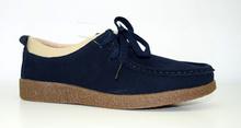 Дамски обувки ЕСТЕСТВЕНА КОЖА И НАБУК - тъмно сини