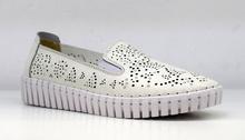 Дамски обувки - JADA - ЕСТЕСТВЕНА КОЖА - бели