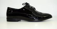 Дамски обувки черен лак - REESE - с връзки