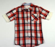 Спортно елегантна риза с къс ръкав - MICAH - червена за 4 годишни