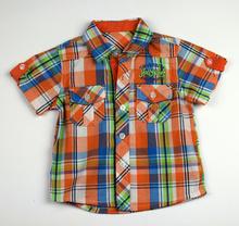 Спортно - елегантна риза с къс ръкав - HOLLYWEEK - цвят портокал за 1 годинка