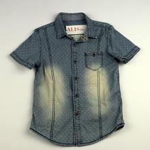 Дънкова спортно - елегантна риза - SMALL GANG -синя от 8 до 16г.