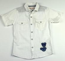 Спортно - елегантна риза с къс ръкав - COUNTRY BOY - бяла за 5 и 6 г.