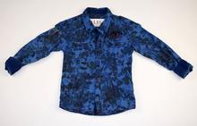 Спортно - елегантна риза с дълъг ръкав - NOА - синя от 6 до 16 г.