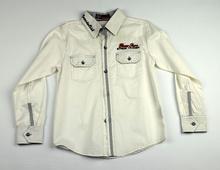 Спортно - елегантна риза с дълъг ръкав - ZHONG FU - бяла за 10 г.