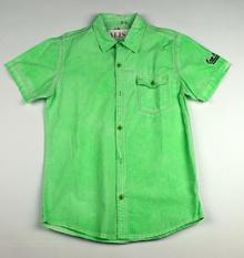 Спортно - елегантна риза с къс ръкав - FASHION COLLECTION - зелена за 14 и 16 годишни