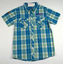 Спортно - елегантна риза с къс ръкав - EXTREME - синя за 16 годишни