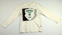 Памучна блузка с дълъг ръкав за момче - VINTAGE - бяла за 4-5 годишни
