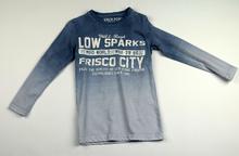 Детска блуза с дълъг ръкав за момче - LOW SPARKS - синя за 5 и 6 годишни