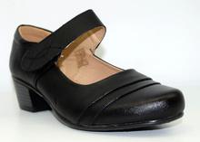 Дамски обувки на нисък ток - ALEXI - черни