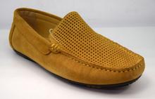 Мъжки мокасини - DARIK - ЕСТЕСТВЕНА КОЖА и велур в цвят карамел