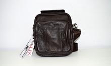 Мъжка бизнес чанта ЕСТЕСТВЕНА КОЖА - JUSTIN - тъмно кафява