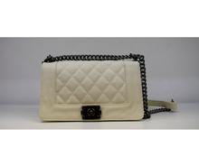Модна дамска чанта - MONY - екрю светло